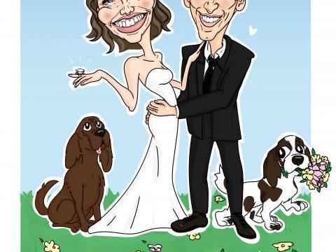 Karikatura za poročno darilo
