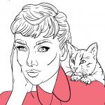 risani portreti Audrey Hepburn - top karikature