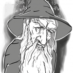 Karikatura Gandalf - Lord of the Rings