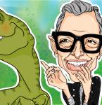 Karikatura Jeff Goldblum (Jurassic Park)