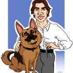 Karikatura Komisar Rex
