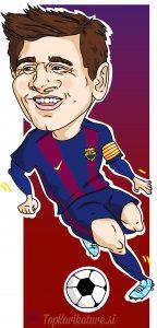 digitalna karikatura Lionel Messi