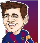 digitalna karikatura Lionel Messi
