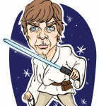 Karikatura Luke Skywalker