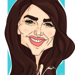 Karikatura igralke Penelope Cruz