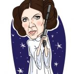 Karikatura Princesa Leia Vojna Zvezd