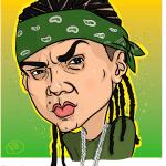 Karikatura Reggaton pevca Sean Paul