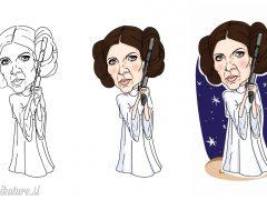 Izdelava karikature princese Leie