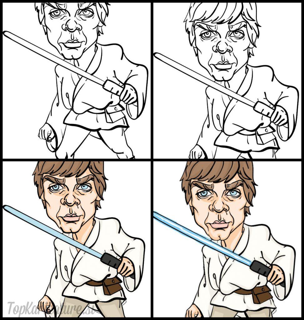 Risanje karikature Luke Sjywalker