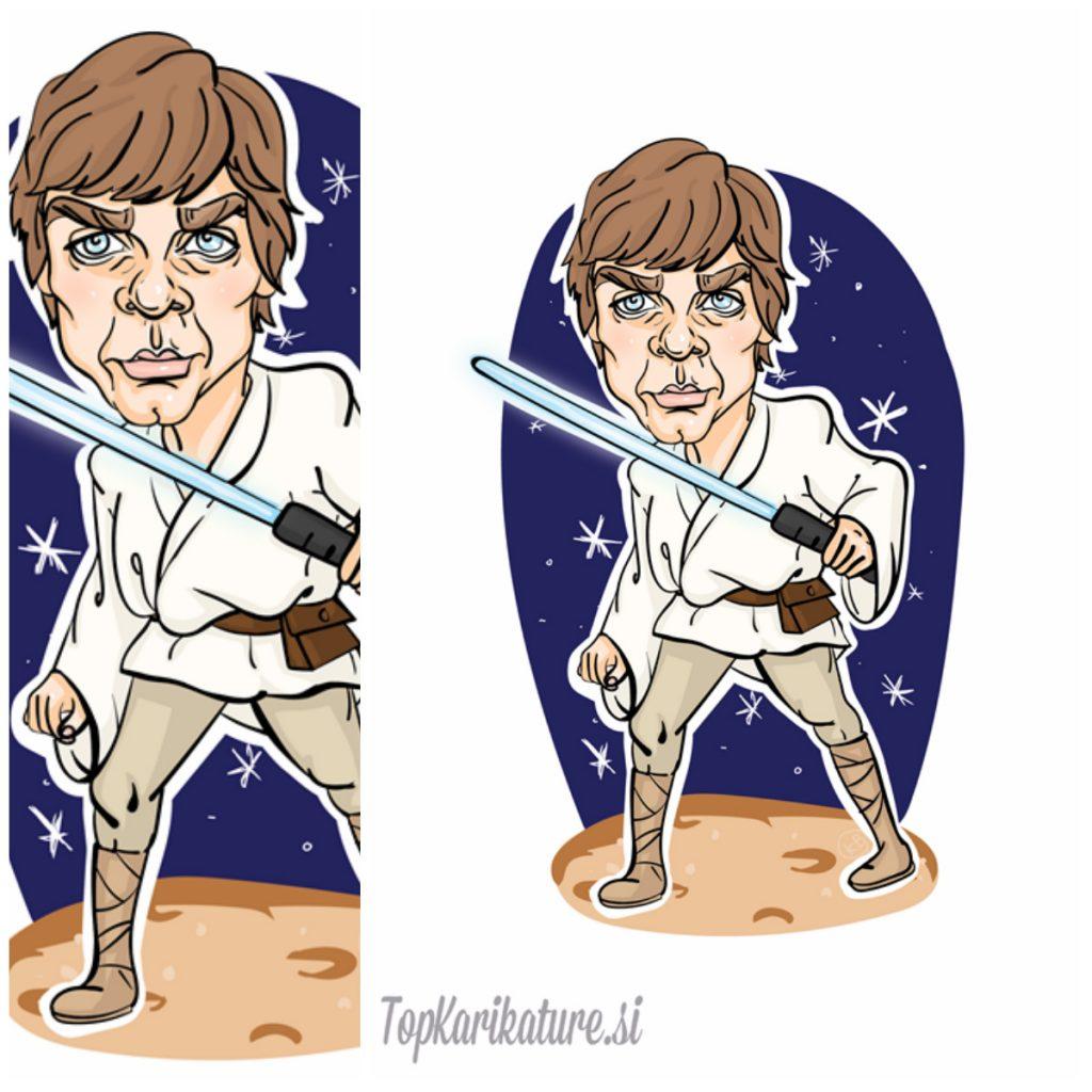 Izdelava karikature Luke Skywalker