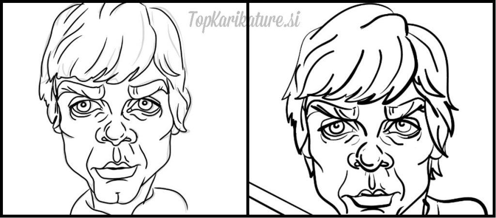 Izdelava Luke Skywalker Karikature